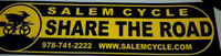 "Salem Cycle ""Share The Road"" Bumper Sticker"